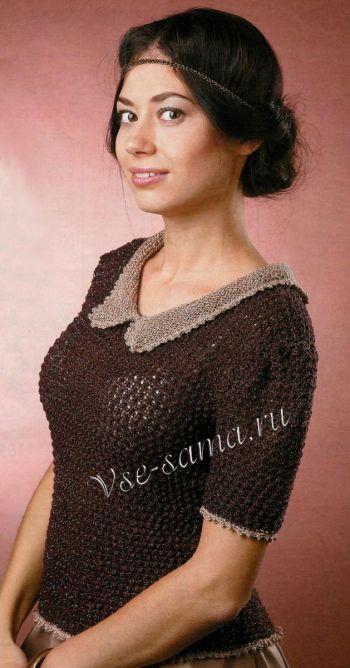 Korichnevyi-pulover-s-vorotneychkom-ris-350x668 (350x668, 175Kb)
