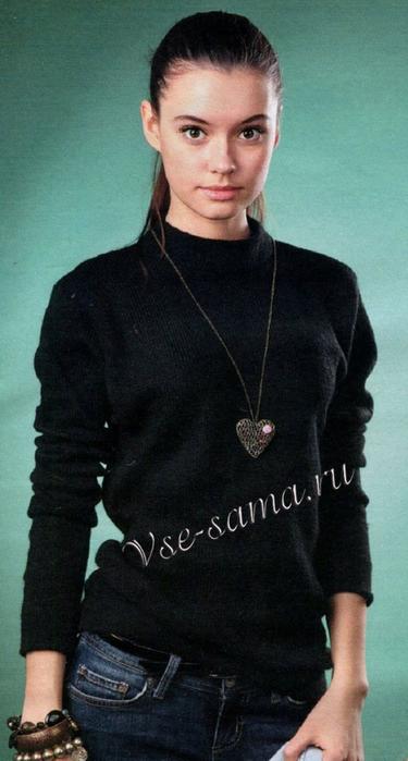 Classicheskii-chernyi-pulover-ris (375x700, 261Kb)