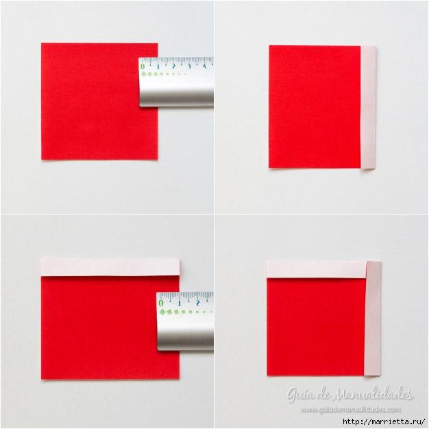 Санта Клаус из бумаги в технике оригами (4) (626x626, 126Kb)