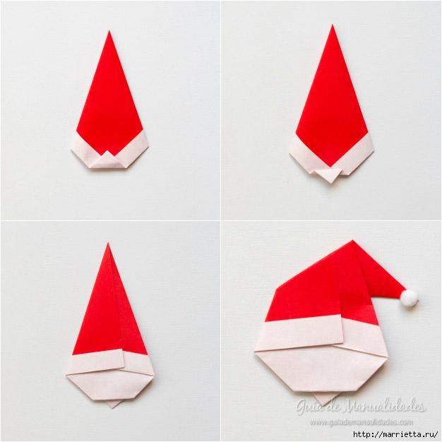 Санта Клаус из бумаги в технике оригами (6) (626x626, 135Kb)