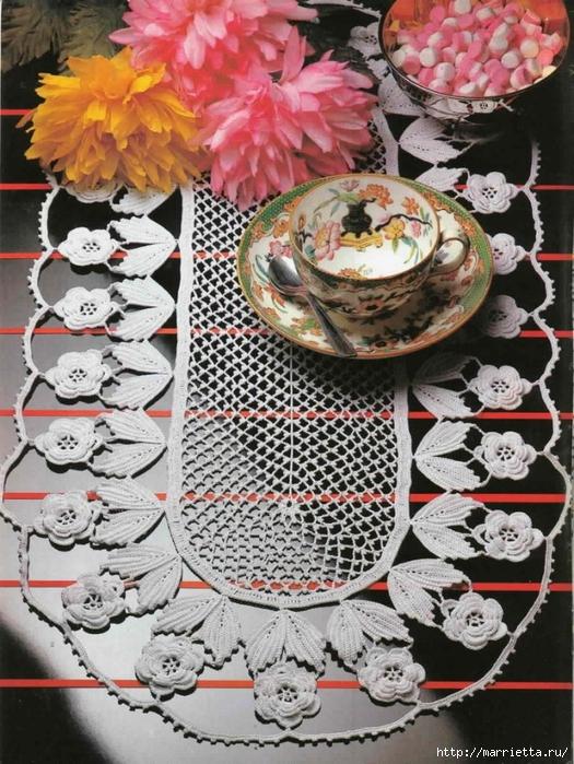 Вязание крючком. Салфетки с розочками (11) (525x700, 350Kb)