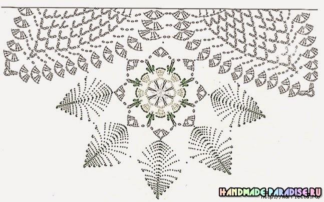 Вязание крючком. Салфетки с розочками (17) (647x404, 192Kb)