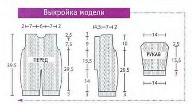 Вязание комбинезона спицами для 3 мес