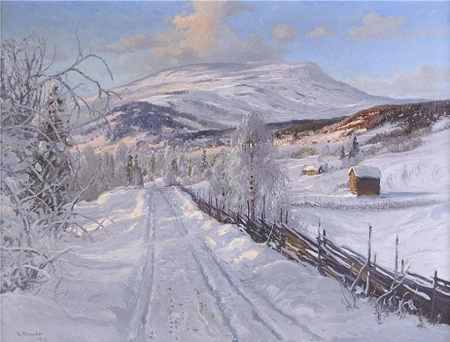 Зимний пейзаж. Арескутан (644x490, 287Kb)