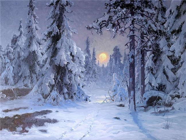 Сиянье луны над зимним ландшафтом. (648x490, 335Kb)
