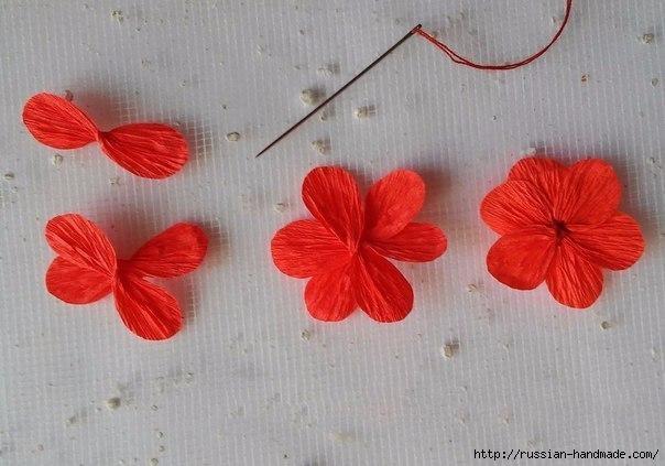 Бумажные цветочки своими руками для скрапбукинга (3) (604x423, 133Kb)