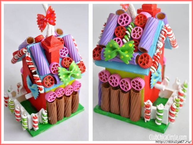 Painted-Pasta-Gingerbread-Holiday-Birdhouses-Tween-Craft-Idea-@clubchicacircle (650x488, 231Kb)
