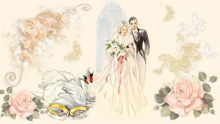 Свадебные распечатки для декупажа