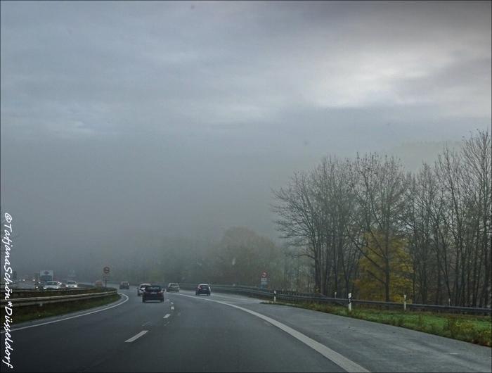 Дорога из Дюссельдорфа в город Зиген, западная Германия