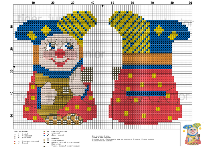 Схема для вышивки игрушка