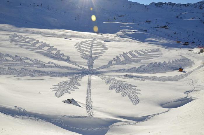 Саймон Бек рисунки на снегу 1 (700x463, 295Kb)