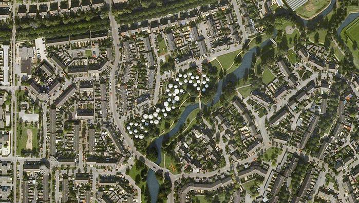 круглые дома в голландском городе Хертогенбос 4 (700x397, 448Kb)