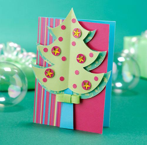 Как сделать открытку с новым годом на