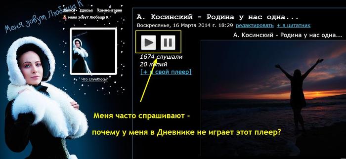 Как правильно слушать плеер на Лиру - Журнал Аллы Евдокимовой