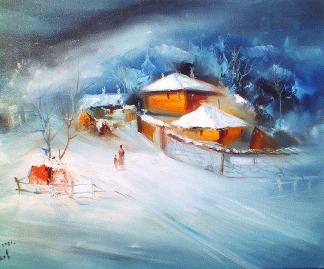 горная деревня зимой ..... так красиво и так тихо, (641x533, 327Kb)