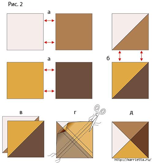 Лоскутная мозаика. Панно ИГРА С УГОЛКАМИ в технике пэчворк (2) (500x533, 84Kb)
