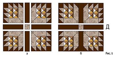 Лоскутная мозаика. Панно ИГРА С УГОЛКАМИ в технике пэчворк (5) (400x199, 134Kb)