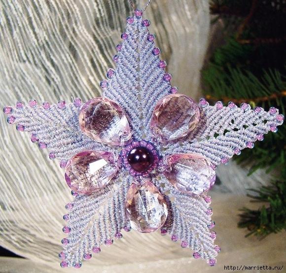 Рождественская звезда. Плетение в технике макраме (16) (580x553, 317Kb)