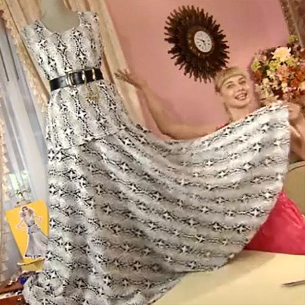Платье из кружевного полотна с ольгой никишичевой