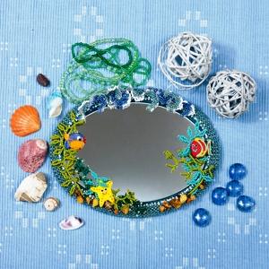 Бисероплетение рамки для зеркала. Морской стиль (9) (300x300, 146Kb)