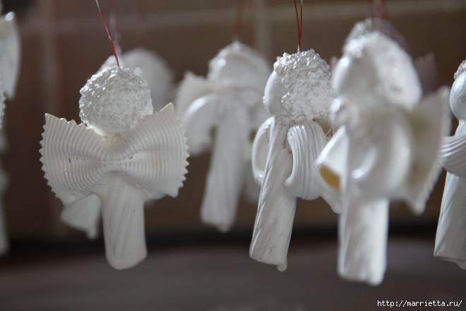 Рождественские ангелы - подвески из макарон (9) (660x440, 83Kb)