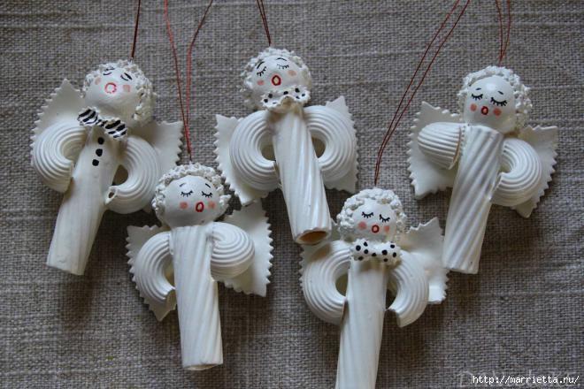 Рождественские ангелы - подвески из макарон (17) (660x440, 174Kb)