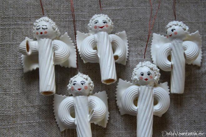 Рождественские ангелы - подвески из макарон (22) (660x440, 156Kb)