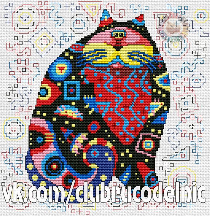 Party Cat (679x700, 841Kb)