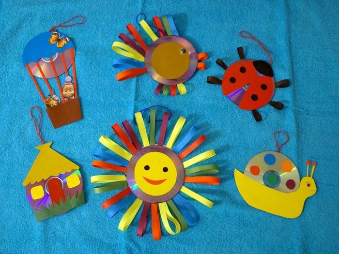 Поделки из дисков своими руками в детском саду
