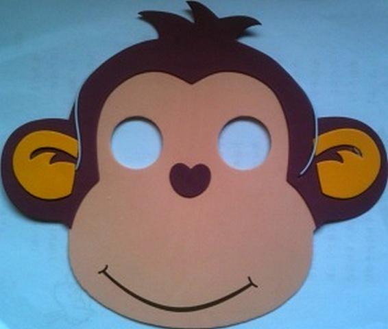 Маска для обезьянки своими руками