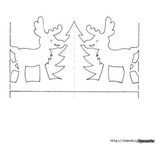 Гирлянда из бумаги своими руками схемы новогодние