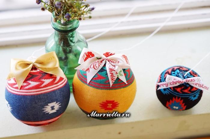 Елочные шары из носков и пенопласта (4) (700x461, 312Kb)