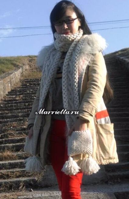 Длинный шарф с карманами. Вязание спицами (6) (424x654, 231Kb)
