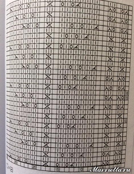 Вязание спицами жилета с длинными полами (3) (471x610, 351Kb)
