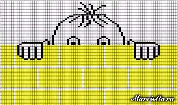 Забавный детский пуловер спицами для мальчика (10) (595x351, 293Kb)