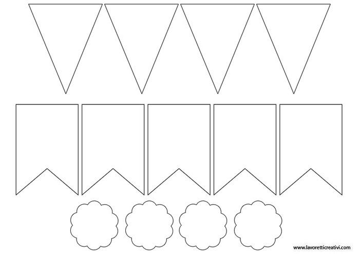 Шаблоны для гирлянд из бумаги своими руками