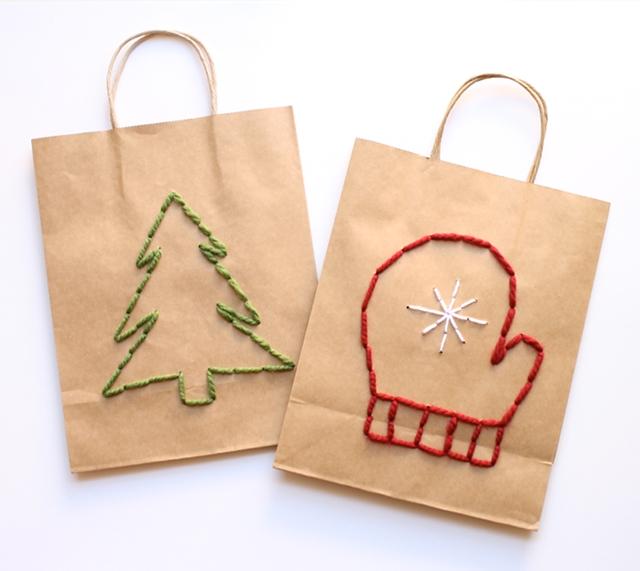 Новогодние пакеты своими руками