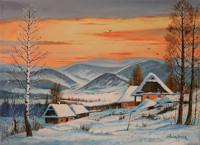 WINTER_VILLAGE_THE_BESKIDY_MOUNTAINS_cs8 (700x508, 474Kb)