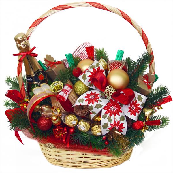 Подарочные корзины своими руками на новый год