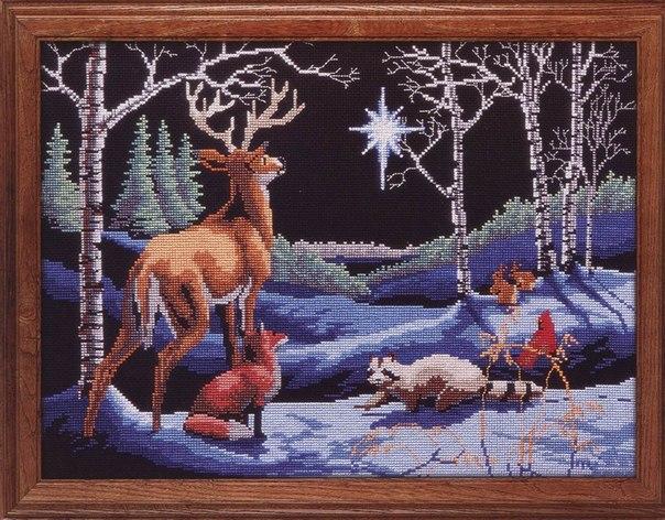 Вышивка северная ночь