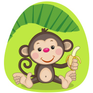 4059776_stockillustration39896454monkeyandbanana (190x190, 24Kb)
