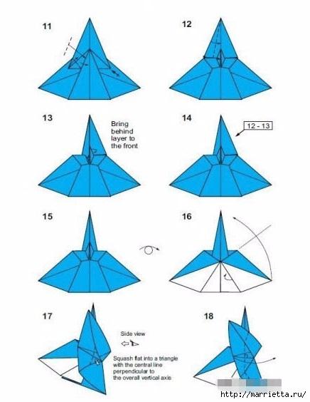 Техника оригами. АНГЕЛ из бумаги (3) (436x564, 106Kb)