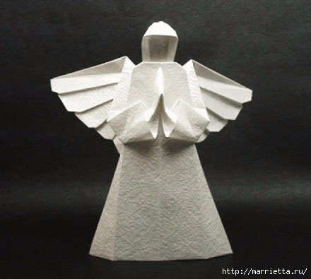 Техника оригами. АНГЕЛ из бумаги (5) (440x395, 81Kb)