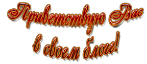 Приветствую вас в своём блоге! (300x131, 55Kb)