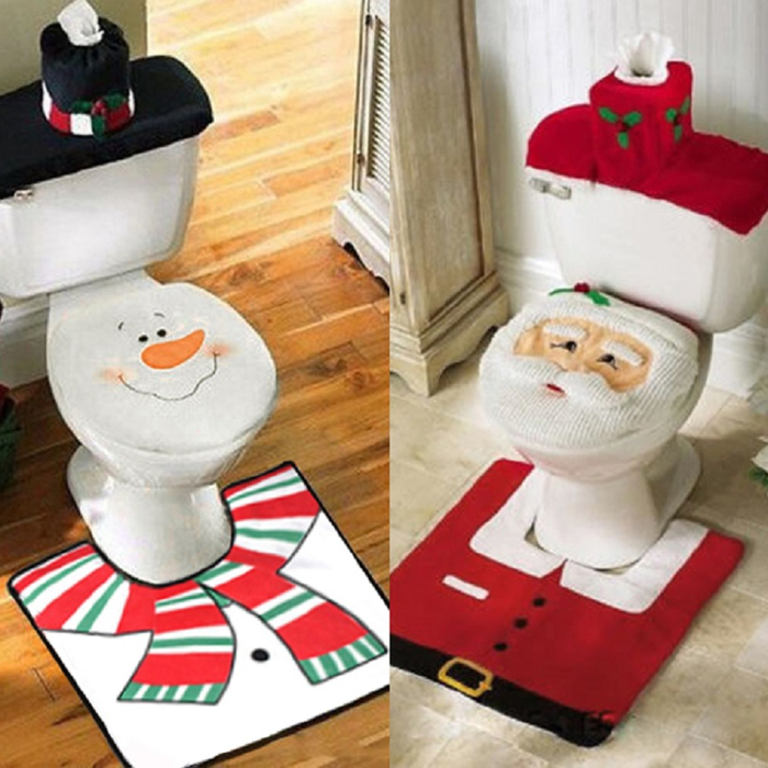 Santa bathroom set