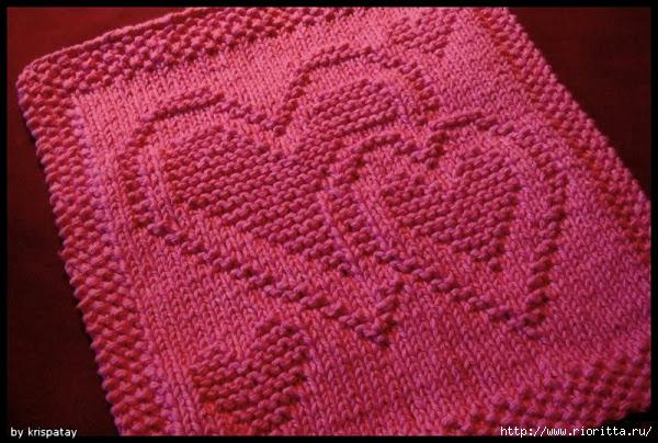 Вязание узорного полотна