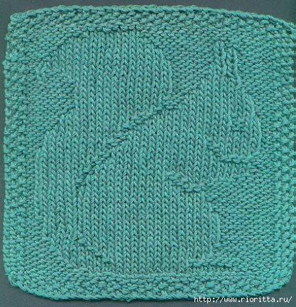 Плетенка узор для вязания спицами 602