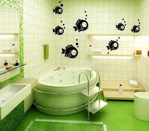 Рисунки в ванной комнате своими руками фото