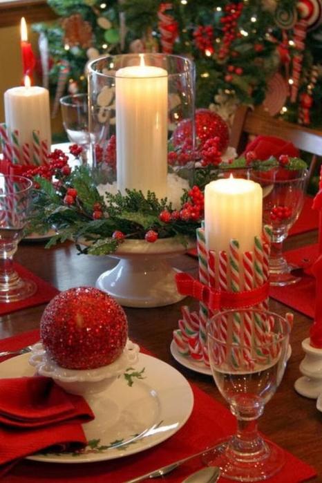 Новогоднее украшение для стола своими руками фото