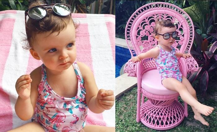 Гламурная одежда от 2-летней девочки, популярной в Инстаграм